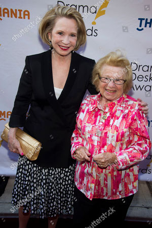 Stock Image of Dr. Ruth Westheimer, right, and Debra Jo Rupp attend the Drama Desk Awards on in New York