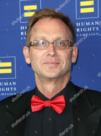 Stock Image of Director Del Shores arrives at the 2014 Human Rights Campaign Los Angeles Gala, on in Los Angeles, California