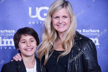 Jaden Rain, left, and Tina Pehme arrive at 2014 Santa Barbara International Film Festival - Montecito Award ceremony on Wednesday, Feb, 5, 2014 in Santa Barbara, Calif