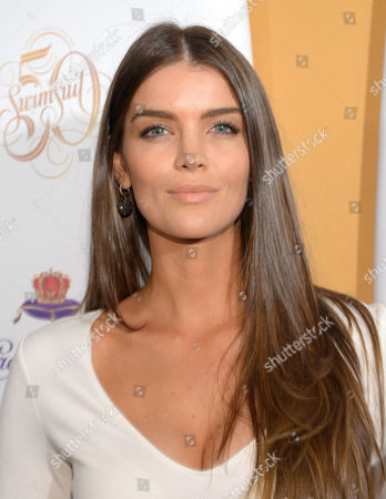 Model Natasha Barnard attends the 2014 Sports Illustrated Swimsuit 50th Anniversary Issue kick off event at Swimsuit Beach House on in New York