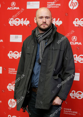 "Producer Chris Ohlson poses at the premiere of the film ""Kumiko, the Treasure Hunter"" during the 2014 Sundance Film Festival, on in Park City, Utah"
