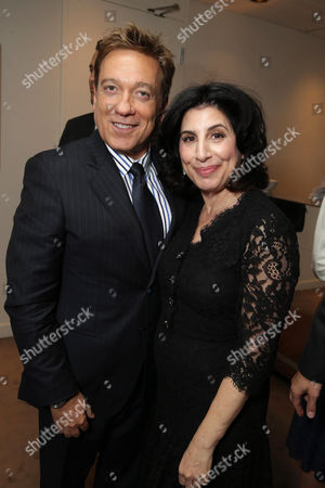 """CAA's Kevin Huvane and Sue Kroll, President of Worldwide Marketing and International Distribution at Warner Bros. Pictures seen at Warner Bros. """"This is Where I Leave You"""" Premiere at 2014 TIFF, in Toronto"""