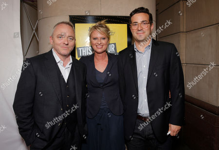 Screenwriter Dennis Lehane with Producers Jenno Topping and Mike Larocca attend the premiere of Fox Serachlight's 'The Drop' during the 2014 Toronto International Film Festival at Princess of Wales Theatre on in Toronto, Canada