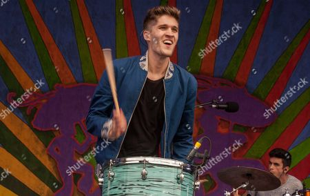 Gary Larsen performs with Royal Teeth at the New Orleans Jazz & Heritage Festival, on in New Orleans