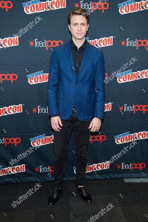 """Martin Wallstrom attends a press event for USA Networks's """"Mr. Robot"""" at the 2015 New York Comic Con at the Javits Center, in New York"""