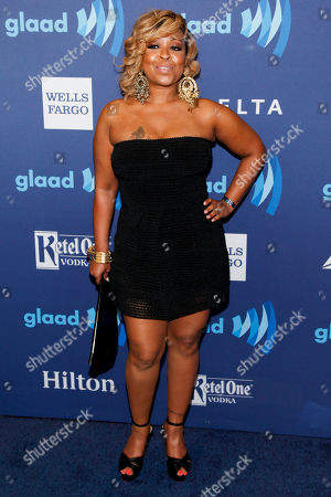 Monifah Carter attends the 26th Annual GLAAD Media Awards at the Waldorf Astoria, in New York