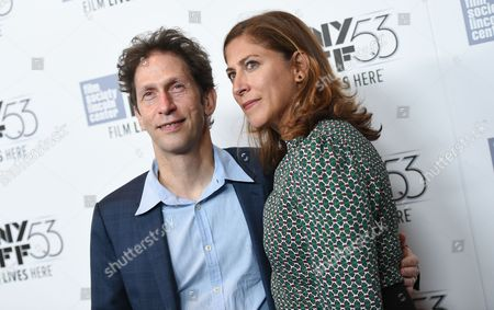 """Actor Tim Blake Nelson and wife Lisa Benavides-Nelson attend a special 15th anniversary screening of, """"O Brother, Where Art Thou?"""", during the New York Film Festival at Alice Tully Hall, in New York"""