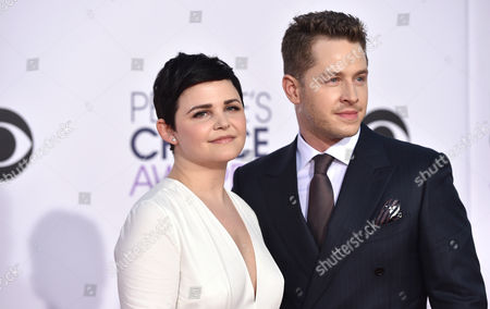 Ginnifer Goodwin, left, and Josh Dallas arrive at the People's Choice Awards at the Nokia Theatre, in Los Angeles
