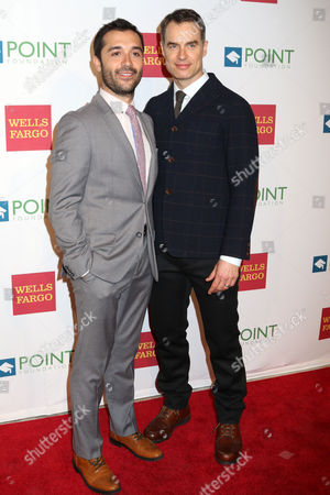 """Frankie J. Alvarez, left, and Murray Bartlett attend the Point Foundation's """"Point Honors 2015 New York Gala"""" at The New York Public Library, in New York"""
