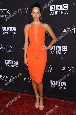 Model/TV host Asha Leo arrives at the BAFTA Los Angeles TV Tea at SLS Hotel, in Los Angeles