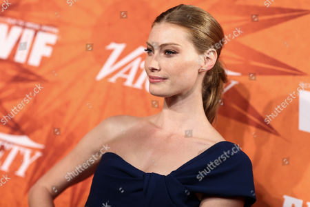 Alyssa Sutherland attends the Variety Magazine and Women in Film Pre Emmy Party held at Gracias Madre, in West Hollywood, Calif