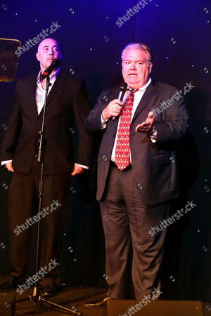 Alex Skuby and Jim O'Heir seen at 2016 Comedy for a Cure at The Globe Theatre, in Universal City, CA