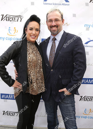 Kat Perkins and Chris Hawkey seen at 2016 Comedy for a Cure at The Globe Theatre, in Universal City, CA
