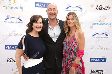 Tuberous Sclerosis Alliance Presiden and CEO - Kari Luther Rosbeck, Alex Skuby and Honoree Mo Collins seen at 2016 Comedy for a Cure at The Globe Theatre, in Universal City, CA