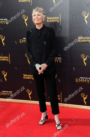 Linda Ellerbee arrives at night one of the Creative Arts Emmy Awards at the Microsoft Theater, in Los Angeles