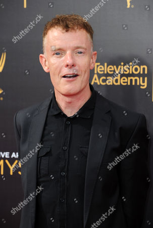 Martin Phipps arrives at night one of the Creative Arts Emmy Awards at the Microsoft Theater, in Los Angeles