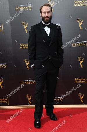 Eric Demeusy arrives at night one of the Creative Arts Emmy Awards at the Microsoft Theater, in Los Angeles