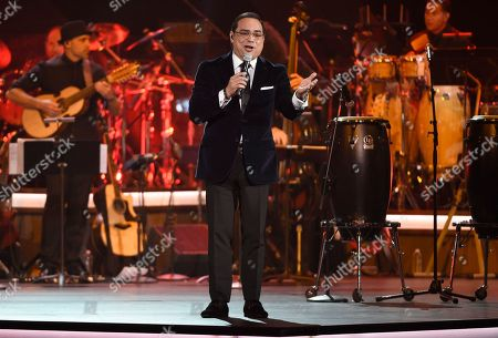 """Gilberto Santa Rosa performs """"Aguanile"""" at the Latin Recording Academy Person of the Year Tribute honoring Marc Anthony at the MGM Grand Garden Arena, in Las Vegas"""