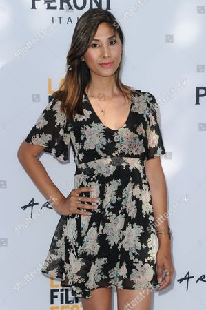 "Rain Valdez attends the premiere of ""Free CeCe"" held at ArcLight Cinemas, in Culver City, Calif"