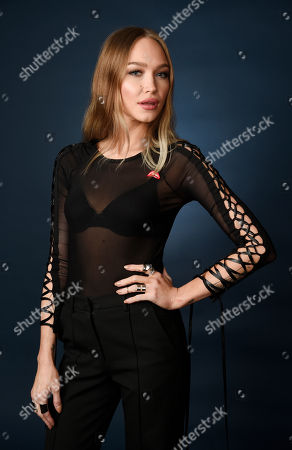 "Ivy Levan, a cast member in the FOX movie ""Rocky Horror Picture Show,"" poses for a portrait during the 2016 Television Critics Association Summer Press Tour at the Beverly Hilton, in Beverly Hills, Calif"