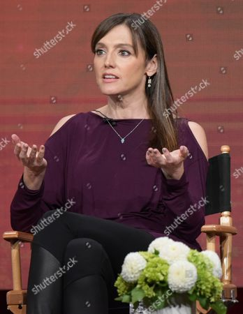 """Executive producer Nancy M. Pimental participate in """"Love & Marriage on TV"""" panel during the Showtime Critics Association summer press tour, in Beverly Hills, Calif"""