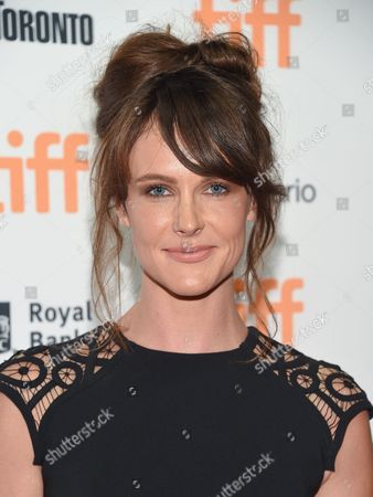 Stock Image of Actress Carolina Bartczak attends the TIFF Soiree, an annual fundraiser and celebratory kick-off for the 2016 Toronto International Film Festival, at the TIFF Bell Lightbox, in Toronto