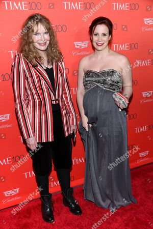 Actress Mia Farrow and her daughter Dylan Farrow attend the TIME 100 Gala, celebrating the 100 most influential people in the world, at Frederick P. Rose Hall, Jazz at Lincoln Center, in New York