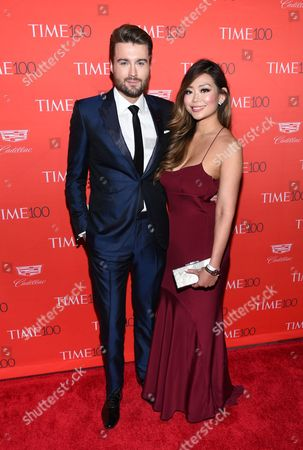 Stock Image of Mashable founder and CEO Peter Cashmore and girlfriend Kimmy Huynh attend the TIME 100 Gala, celebrating the 100 most influential people in the world, at Frederick P. Rose Hall, Jazz at Lincoln Center, in New York