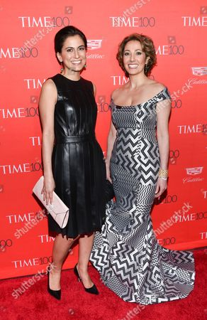 Tali Farhadian Weinstein, left, and Pardis Sabeti attend the TIME 100 Gala, celebrating the 100 most influential people in the world, at Frederick P. Rose Hall, Jazz at Lincoln Center, in New York