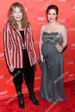 Actress Mia Farrow and daughter Dylan Farrow attend the TIME 100 Gala, celebrating the 100 most influential people in the world, at Frederick P. Rose Hall, Jazz at Lincoln Center, in New York