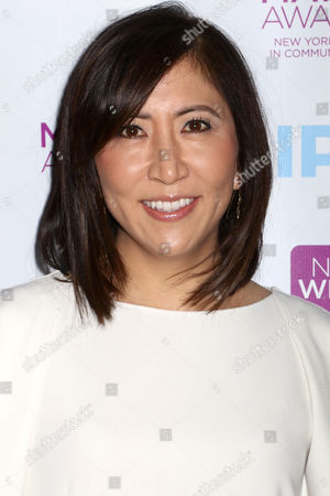 Honoree Janice Min, Co-President and Chief Creative Officer of The Hollywood Reporter, attends the 2016 New York Women in Communications Matrix Awards at the Waldorf Astoria, in New York