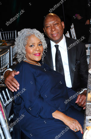 Yvette Freeman, left, and Lanny Hartley in the audience at the 21st annual Screen Actors Guild Awards at the Shrine Auditorium, in Los Angeles