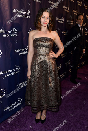 """Lauren Miller arrives at the 23rd annual """"A Night at Sardi's"""" to benefit the Alzheimer's Association at the Beverly Hilton Hotel, in Beverly Hills, Calif"""
