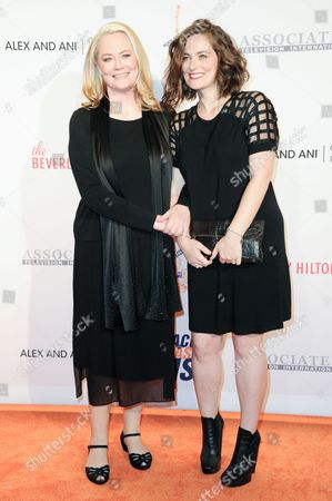 Cybill Shepherd, left, and Clementine Ford attend the 23rd Annual Race to Erase MS Gala held at the Beverly Hilton Hotel on