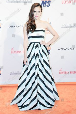 Megan Nicole attends the 23rd Annual Race to Erase MS Gala held at the Beverly Hilton Hotel on
