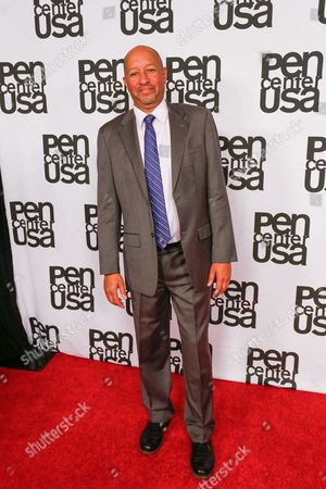 Stock Photo of Carl Phillips arrives at the 26th Annual Literary Awards Festival on Wed, in Beverly Hills, Calif