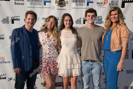 Stock Photo of Jamison Stern, from left, Bianca Matthews, Bailee Madison, Maverick Moreno and Mia Matthews arrive at the 31st annual Fort Lauderdale International Film Festival at Savor Cinema on Friday, Nov.11, 2016 in Fort Lauderdale, Fla