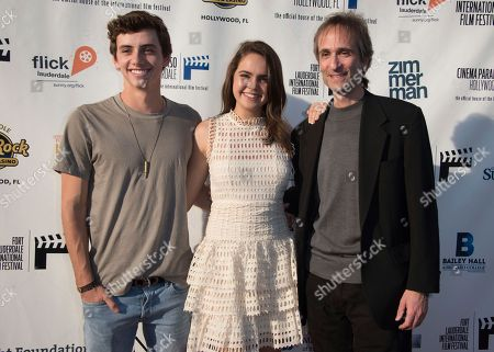 Stock Picture of Mavrick Moreno, from left, Bailee Madison and Director Paul Serafini arrive at the 31st annual Fort Lauderdale International Film Festival at Savor Cinema on Friday, Nov.11, 2016 in Fort Lauderdale, Fla