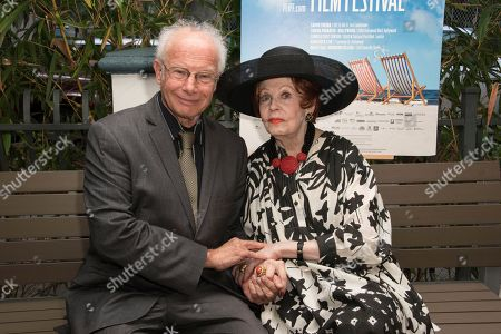 Foster Hirsch, left, and Arlene Dahl attend the 31st annual Fort Lauderdale International Film Festival at Savor Cinema on Friday, Nov.11, 2016 in Fort Lauderdale, Fla