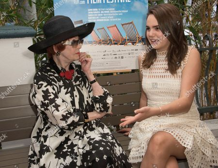 Arlene Dahl, left, and Bailee Madison attend the 31st annual Fort Lauderdale International Film Festival at Savor Cinema on Friday, Nov.11, 2016 in Fort Lauderdale, Fla