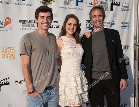 Mavrick Moreno, from left, Bailee Madison and Director Paul Serafini arrive at the 31st annual Fort Lauderdale International Film Festival at Savor Cinema on Friday, Nov.11, 2016 in Fort Lauderdale, Fla