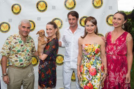Stock Picture of Andy Sabin, Amanda Hearts, Prince Lorenzo Borghese, Jean Shafiroff, and Georgina Bloomberg attend the 3rd Annual Pet Philanthropy Circle's Pet Hero Awards at Hobby Hill Estate in Water Mill on Saturday, Aug.23, 2014 in New York