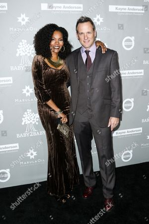 Tom Verica, right, and Kira Arne attend the 4th Annual Baby2Baby Gala held at 3Labs, in Culver City, Calif
