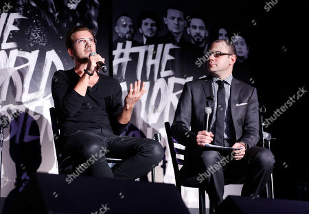 Founder of SoundCloud Alexander Ljung and editorial director of Billboard and moderator Bill Werde attend the 4th Annual Social Media Rock Stars Summit, on Friday, February, 8, 2013 in Los Angeles