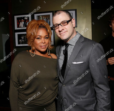 Tionne 'T-Boz' Watkins of TLC and editorial director of Billboard and moderator Bill Werde attend the 4th Annual Social Media Rock Stars Summit, on Friday, February, 8, 2013 in Los Angeles