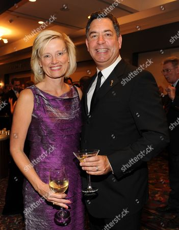 OCTOBER 24: (L-R) President and General Manager, Entertainment and Commercial Films Kim Snyder and Engineering Awards Committee Co-Chair Geoff Katz attend the Academy of Television Arts & Sciences 64th Primetime Emmy Engineering Awards at the Loews Hollywood Hotel on in Hollywood, California