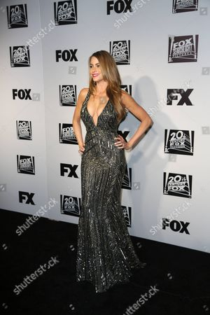 Stock Photo of Sophia Vergara Actress Sofia Vergara arrives at the 20th Century Fox Golden Globe After Party at the Beverly Hilton Hotel on in Beverly Hills, Calif