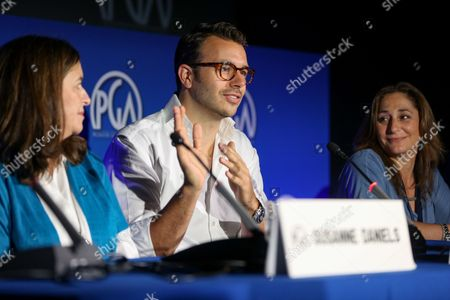 Stock Photo of Charlie Ebersol speaks at the 7th Annual Produced By Conference presented by Producers Guild of America at Paramount Pictures Studios on in Los Angeles
