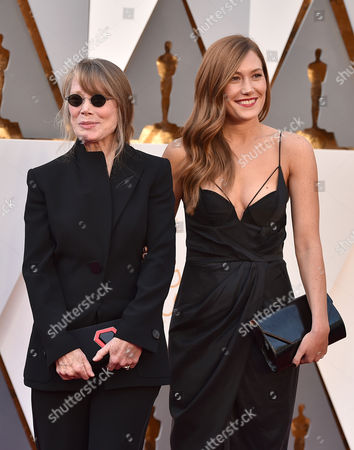 Sissy Spacek, left, and Schuyler Fisk arrive at the Oscars, at the Dolby Theatre in Los Angeles