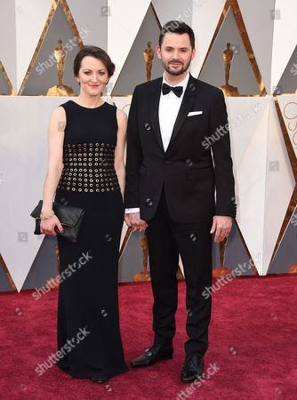 Matt Charman arrives at the Oscars, at the Dolby Theatre in Los Angeles
